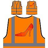 Origami Triangle Zapato de tacón alto Chaqueta de seguridad naranja personalizado de alta visibilidad u569vo