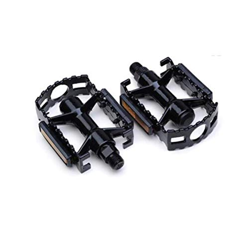 DS-Wang Bike Pedal, 9/16 Inch Bicycle Pedal for Mountain Cycling Road Bicycles Pure Metal Texture - Black The Latest Style, and Durable Bicycle