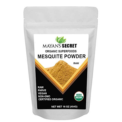 Mesquite Powder USDA Certified Non GMO, Vegan Protein Superfood Natural Fiber - Perfect for Smoothies and Baking 16 Ounces
