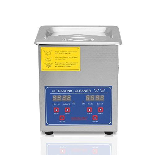 TravelerK Ultraschallreinigungsgerät 2L Ultraschall-Reinigungsgerät mit Heizung Digitale Timer Ultraschallreiniger für Brillen Schmuck Zahnprothesen Münzen usw (2L)