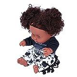 Gaeirt Muñeca Negra De Juguete, Muñeca Simulada para Bebé, Muñeca Negra Simulada, Muñeca Negra para Niños, Regalos para Regalo De Cumpleaños(Q8-052C Vaca en Blanco y Negro)