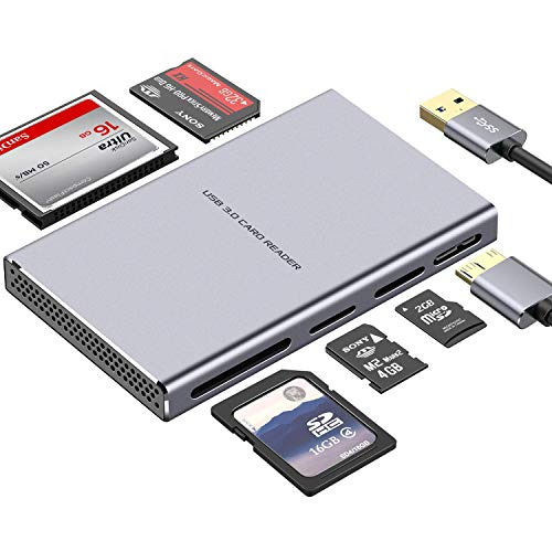 SD Card Reader, GIKERSY 5 in 1 U...