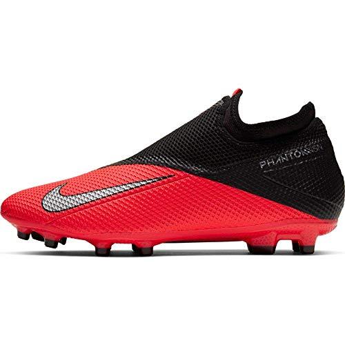 Nike Phantom Vsn 2 Academy DF FG/MG, Scarpe da Calcio Unisex-Adulto, Laser Crimson Metallic Silver Black, 40 EU