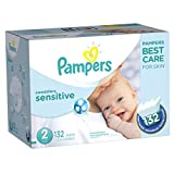 Diapers Size 2 (132 Count) - Pampers Swaddlers Sensitive Disposable Baby Diapers, Super Economy