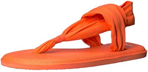 Sanuk Damen Yoga Sling#2 Spectrum Zehentrenner, Orange (Nasturtium), 40 EU