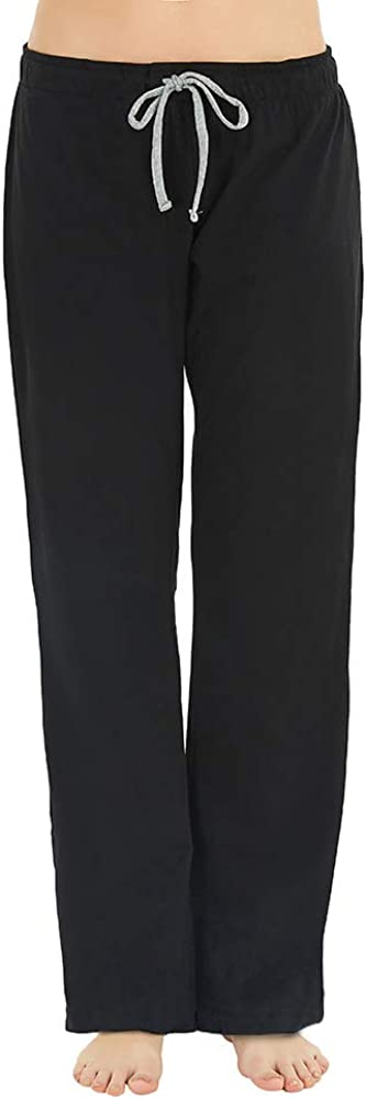 U2SKIIN Womens Cotton Pajama Pants, Comfortable Pajama Pants for Lounge Soft Lightweight Sleep Pj Bottoms for Women