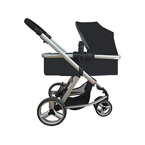 STAR Ibaby Go Baby Up – Poussette de bébé avec chaise, Landau et bulle de pluie, noir