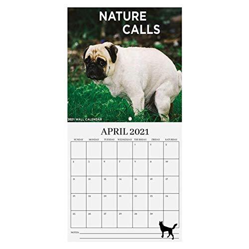 Agenda anual 2021 Calendario de escritorio para caca de perros Calendario diario Planificador de mesa