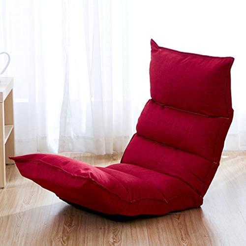 WYDM Tumbonas Sofá perezoso cama tatami portátil plegable balcón respaldo en el piso área grande cómoda silla plegable para acampar luz vacaciones pesca asiento de viaje al aire libre color opcional (