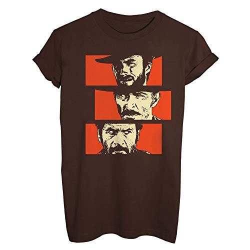 MUSH T-Shirt Il Buono Il Brutto Il Cattivo - Film by Dress Your Style - Uomo-M-Marrone