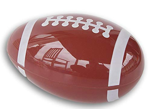 Easter Essentials Snap Closed Sports Ball Egg Shaped Container - 7.75 Inches Long (Football)