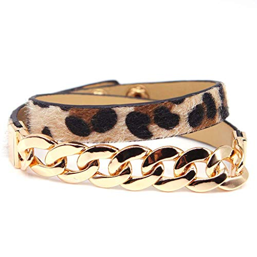 Planuuik Handgemaakt paardenhaar leder luipaardarmband riemgesp armbanden vrouwen sieraden