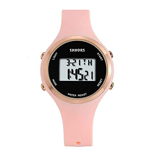 YXZQ SHHORS 's Neue Art- und Weisewasserdichte Multifunktionstrend-Pers5onlichkeits-Silikon-elektronische Uhr heißer