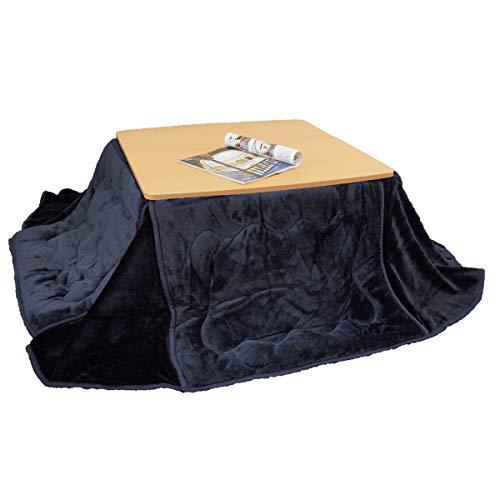 省スペース こたつ布団 長方形用 180×220cm なめらか とろける フランネル ふっくらボリューム 洗える (ネイビー)