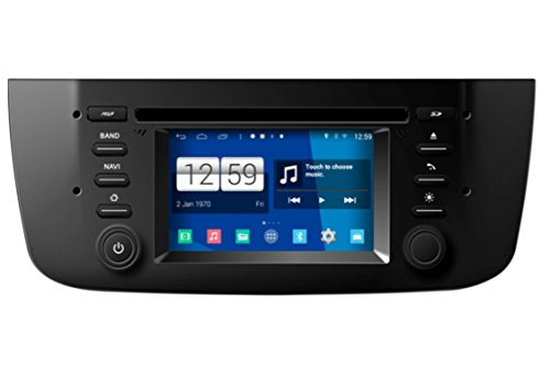 Roverone Quod Core sistema Android 4.3 Pollici autoradio GPS per per Fiat Punto Evo linea 2012 + con navigazione radio stereo Bluetooth DVD SD USB Mirror Link touch screen