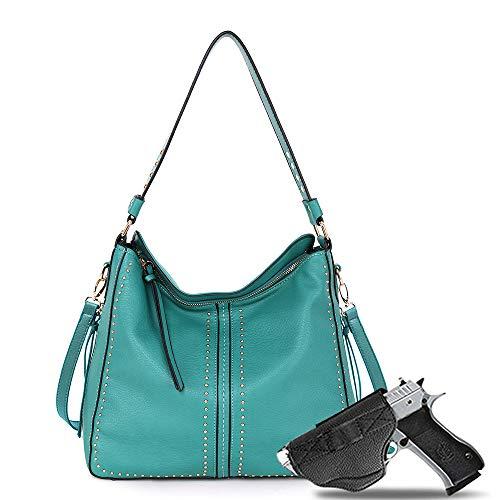 Large Concealed Carry Handbag and Purse For Women Designer Ladies Hobo Bag Faux Leather With Gun Holster B2B-MWC-G1001TQ