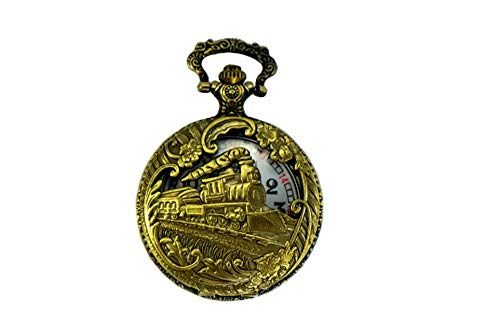 North American Railroad Approved, Railway Regulation Standard,Historical Train Steampunk Pocket Watch'150th Aniversary USA' Japanese Movement'Steam Engine #'3' (of 5 Watch Collection)