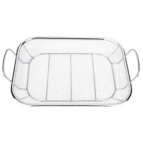 Broco Edelstahl BBQ Grill Basket Barbecue Mesh-Grilling Einkaufskorb Home Außen