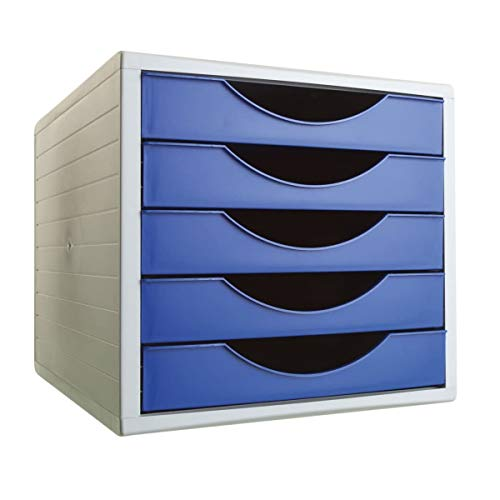 Archivo 2000 Archivotec Serie 4000 - Módulo de 5 cajones, color azul