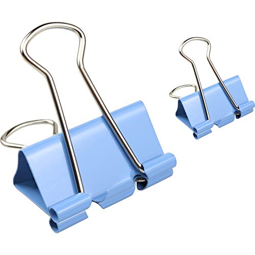 Binder Clips, 40PCS Medium Binder Clips Assorted Two Sizes (1.25 inches and 0.75 inches), Various Colors, Strong and Durable and Reusable, Very Suitable for Home, Office or School Daily Needs