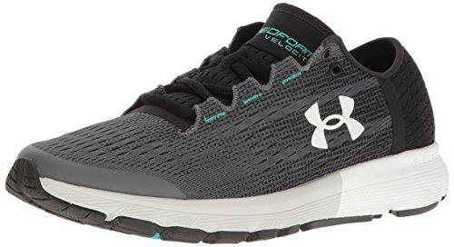 Under Armour Women's Speedform Velociti Running Shoe, Rhino Gray (076)/Black, 9.5