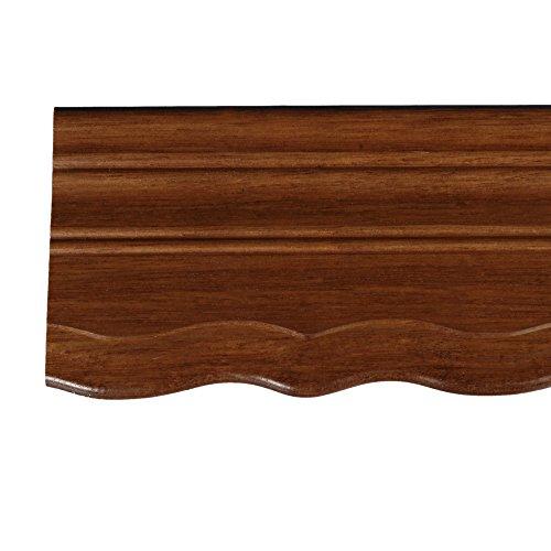 Liedeco Holzblende geschweift 9 cm für Vorhangschiene, Gardinenschiene 210 cm Eiche rustikal