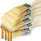 Binjor 40Pcs Cepillo de Pintura de Madera Set Profesionales multifuncional Cerdas naturales de fibra sintética Pinceles para Paredes brochas planas para Muebles de Pared Valla Artesanía
