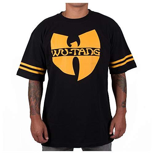 Wu Wear T-Shirt Wu 36, Wu Tang Clan Urban Streetwear Fashion, Hip Hop, Herren Shirt, schwarz-gelb Größe 3XL, Farbe Black