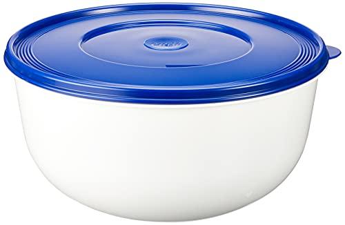 Emsa 2143501200 Superline Recipiente per Lievitazione con Coperchio, Plastica, Bianco/Blu, , 1 Unità