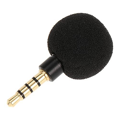 SOLUSTRE Mini Micrófono de Grabación de Voz Micrófono de Voz Omnidireccional Estéreo Micrófono de Esponja para Teléfono Móvil Laptop Notebook