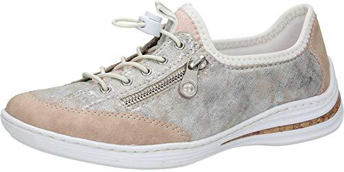 Rieker M3569-31, Chaussures de Skateboard Femme , Rose ( Rose et gris ) , 40 EU