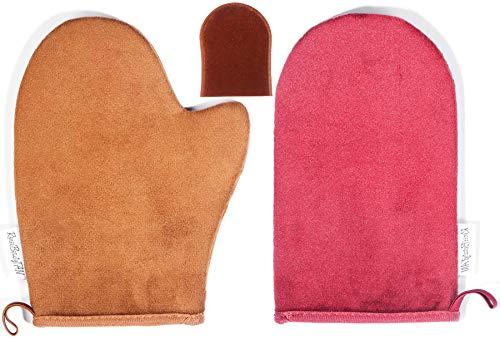 Reneebeautytan 3 Packs Tan Mitt Sunless Tanning Gloves Applicator Face Mitts for Tanning