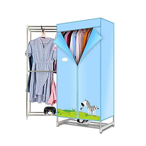 Wäschetrockner, Faltbar Tumble Dryer mit 180 Minuten Timer, Doppelschicht Standtrockner mit Rollen für Hotels Oder Kleine Wohnungen