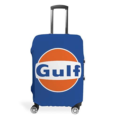 O5KFD&8 Gulf Reise Gepäck Cover - Orange Gulf trendy Luggage Cover Mehrgrößen Anzug für schützend Gepäck White m(22-24 inch)