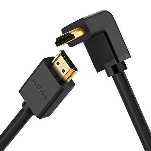 Dragon Trading HDMI-Kabel, rechtwinklig, 270 Grad, HDMI-Kabel, unterstützt 4K UHD 1080P 3D und ARC für PC, Laptop, Blu-ray-Player, Nintendo Switch, 5 m