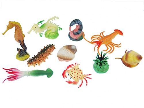 Miniblings 10x Meerestiere Seetiere Figuren Aufstellfiguren Tierfiguren Tiere
