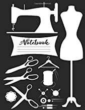 Elegant Sewing Inspired Composition Notebook: Lined Journal Great Gag Gift For Sewing Machine Lovers Seamstresses and Quilters, Ideal For journaling ... Ruled: Sewers Quilter Presents Quilting