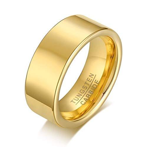 YDMZMS 8mm Gepersonaliseerde Vingerafdruk Ring Pijp Wolfraam Carbide Platte Profiel Bruiloft Ring voor Mannen Sieraden