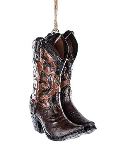 Scout & Company Cowboy Boots Hanging Ornament | Resin Country Western Home Decor Gifts for Cowgirls Cowboys