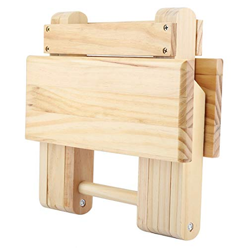 Banco cuadrado pequeño de madera, taburete de zapatos banco