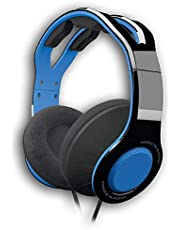 Gioteck TX30 - Casque Gaming PS4 Filaire - Micro Antibruit et Contrôle du Volume - Son Surround - Cable Jack 3.5mm - Casque Gamer Compatible avec Switch/PS4/PS5/Xbox One/Series et PC (Bleu)