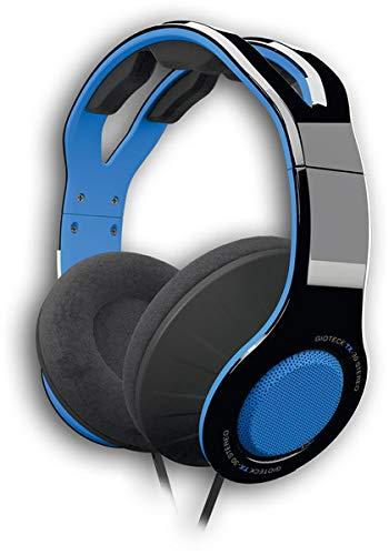 Gioteck - TX30 Stereo Game&Go-Headset mit blauem Grill für PS4, 40-mm-Hochleistungstreiber, robuste Verarbeitung, Alcantra-Dämpfung, diskretes Inline-Mikrofon
