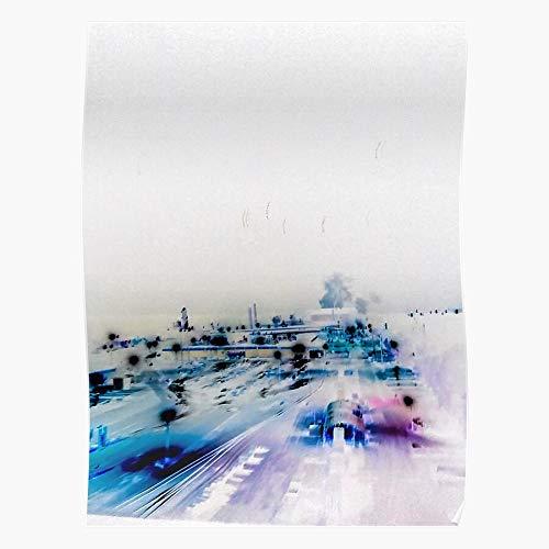 MARIANA Cool Ok Abstract Industrial Radiohead Computer Blue Neat Beeindruckende Poster für die Raumdekoration, gedruckt mit modernster Technologie auf seidenmattem Papierhintergrund