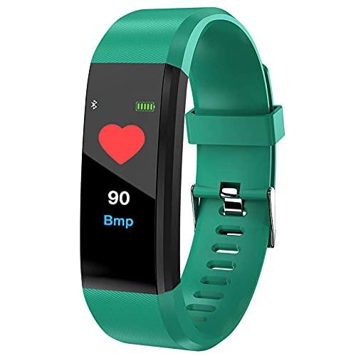 Yumanluo Reloj Inteligente Mujer Hombre,Pulsera Impermeable multifunción, recordatorio de información Reloj Deportivo-Verde,Pulsera de Actividad Inteligente Reloj Deportivo