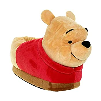 Happy Feet Slippers Officially Licensed Disney and Pixar Character and Figural Winnie The Pooh Slippers for Men Women and Kids As Seen on Shark Tank  Medium/Large