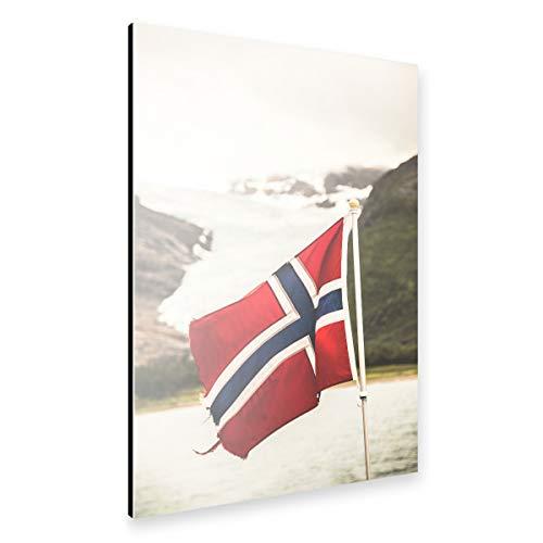 artboxONE Alu-Print 150x100 cm Let's go Norway von Künstler Sebastian Worm