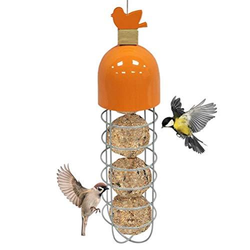 Susian Hängender Vogelhäuschen, Vogelhäuschen im Freien Metall Hängende Vogelhäuschen Vogelfutterspender Outdoor-Gartenfütterungswerkzeug für Vogelfutterspender