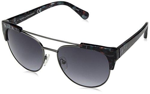 DVF Carine DVF831S-423 - Gafas de sol ovaladas para mujer, color azul mármol, 56 mm