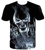 Goodstoworld Gracioso Gato Espacial Galaxy Camisetas Verano Personalizado Impreso Cuello Redondo Camiseta tee Tops para Mens Womens XL