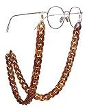 EUEAVAN Retenedor de gafas de acrílico Cadena Gafas de sol Correa Cadena Gafas de lectura Collares Cadena para mujeres y hombres (marrón)